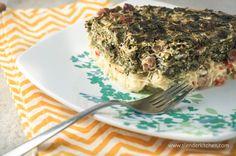 Sunday Slow Cooker:  Breakfast Hashbrown Spinach & Ham Casserole