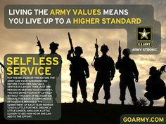 Essay on army values