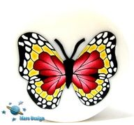 NEW tutorial BUTTERFLY cane polymer clay cane by marsdesign,