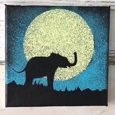 Canvas Painting Tutorials, Painting Techniques, Diy Painting, Canvas Painting Designs, Gouache Painting, Fabric Painting, Simple Canvas Paintings, Diy Canvas Art, Elephant Canvas Painting