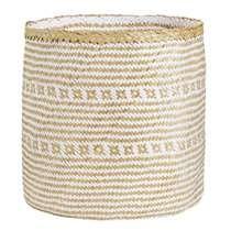 Mand Rikke - beige/wit - 40xØ40 cm Laundry Basket, Wicker, Beige, Home Decor, Decoration Home, Room Decor, Home Interior Design, Ash Beige, Laundry Hamper