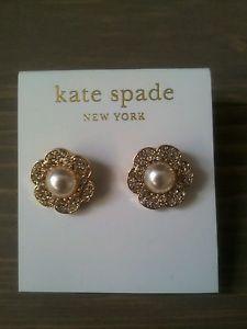 Kate Spade Crystal Pearl Flower Stud Earrings