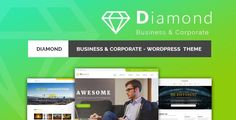 Diamond - Business & Corporate Responsive WordPress Theme by qtcmedia Diamond is a fresh modern and classy WordPress theme. It is ideal solution for commercial and art sphere. This template will creat