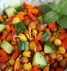 Sprouted Bean Salad Recipe #stepbystep