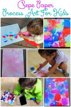 3 Ways to make process art with kids using only crepe paper and water. These painting techniques are really easy, fun and sure to be a hit…