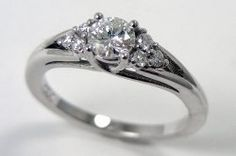 Sweet and simple Diamond Ring with mermail tail design
