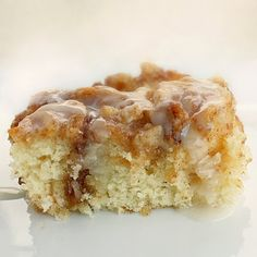 Cinnamon Roll Cake    Cake:  3 cups flour  ¼ teaspoon salt  1 cup sugar  4 teaspoons baking powder  1 ½ cups milk  2 eggs  2 teaspoons vanilla  1/2 cup (1 stick) real butter, melted    Topping:  1 cup (2 sticks) real butter, softened  1 cup brown sugar  2 tablespoons flour  1 tablespoon cinnamon  3/4 cup chopped pecans, (optional) (always measure the nuts first then chop them)    Glaze:  2 cups powdered sugar  5 tablespoons milk  1 teaspoon vanilla    Preparation: Preheat oven to 350…