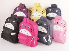 Bolsos de Totoro multicolor.