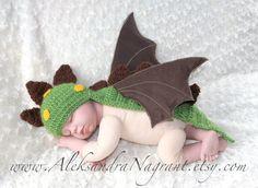 DRAGON/ DINOSAUR Baby Costume acrylic by AleksandraNagrant