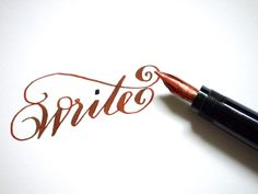 Using a fountain pen to write with transforms an ordinary, mundane task into art.