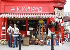 How I loved sorting through treasures at Alice's on Portobello Road, Notting Hill markets   photo by Ming Tang-Evans
