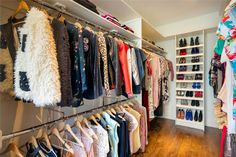 It wouldn't be Carrie's Sarah's house without a majestic walk-in closet the size of our own apartment.