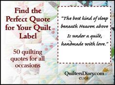 Elegant Quilt Label Design Ideas Elegant Quilt Label Design Ideas - This Elegant Quilt Label Design Ideas design was upload on March, 30 2020 by admin. Here latest Elegant Quilt Label. Quilting Quotes, Quilting Tips, Quilting Tutorials, Machine Quilting, Quilting Projects, Quilting Designs, Sewing Projects, Sewing Tips, Quilting Rulers