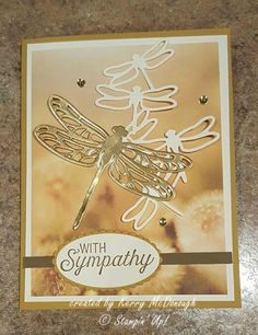 Serene Scenery designer series papers make creating pretty cards easy! Scrapbooking, Scrapbook Cards, Sympathy Thank You Cards, Memorial Cards, Beautiful Handmade Cards, Get Well Cards, Cool Cards, Diy Cards, Butterfly Cards