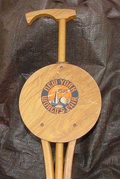 Working 1939 New York World's Fair Walking Stick Folding Chair