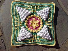 "Ravelry: Winter Sun 9""/12"" Crochet Block Afghan Square pattern by Margaret MacInnis"