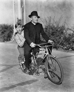 Mickey Rooney on Back of Bike with Spencer Tracy Boys Town 11x14 Photo | eBay