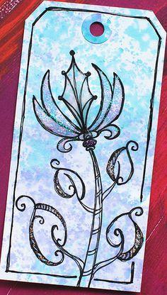 Art Tag - Floral Fantasy 3