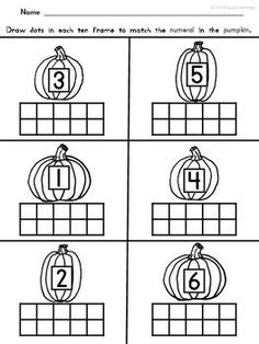 math worksheet : 1000 ideas about kindergarten counting on pinterest  : Pumpkin Math Worksheets Kindergarten