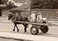 When i first moved to Dublin in 1969  Milk was delivered by Horse Cart ...this is the sound I woke up to in Glenageary