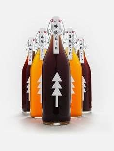 Japanese designer Kota Kobayashi, currently based in New York, has brewed as well as designed the beautifully minimalist packaging for Ippon Matsu Beer, to benefit a great cause. On the northeastern shore of Japan, a forest of 70,000 pine trees lined the coast of Rikuzentakata. In 2011, these pines were destroyed during the Tōhoku tsunami effect, and now only one pine remains. S)