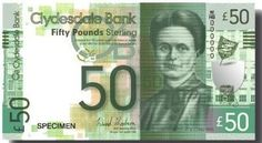 Scotland - the £50  note is Elsie Inglis who set up the first woman-run maternity hospital in Scotland and was active in the campaign for women's rights, joining the National Union of Women's Suffrage Societies in 1906.