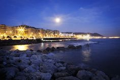 Salerno, Italy by night