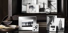 Frames | Restoration Hardware ( I love the photo of the woman looking away with her hair up/ back of her neck..I want a a photo of me like that)
