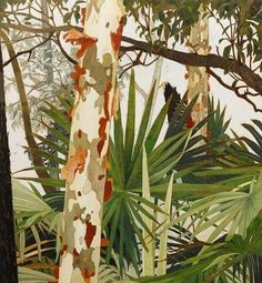 Prints & Graphics - Cressida Campbell - Page 2 - Australian Art Auction Records Contemporary Australian Artists, Australian Painters, Landscape Art, Landscape Paintings, Landscapes, Art Et Illustration, Motif Floral, Conceptual Art, Art Design
