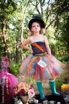 Mad Hatter tutu dress - Alice in Wonderland - size newborn to 5t - female mad hatter costume - homemade mad hatter costume -