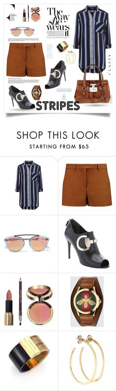 """""""One Direction : Striped Shirts"""" by monica-dick ❤ liked on Polyvore featuring Topshop, Emilio Pucci, Westward Leaning, Gucci, Monique Lhuillier, Ciaté, Michael Kors, Jill Platner and stripes"""
