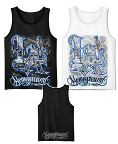 05b60f1908163 Details about Men s Graphic Tank Top LA city view with a Girl White Black M  - 2XL