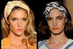 Os turbantes estão combinando com as roupas.. Maravilhoso