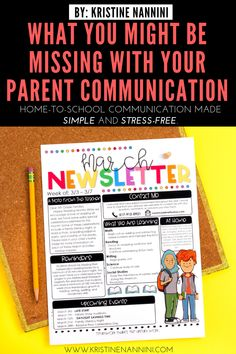 What Might Be Missing with Your Parent Communication - Kristine Nannini Parent Teacher Communication, Family Communication, Special Education Teacher, Teacher Resources, 5th Grade Classroom, 2nd Grade Teacher, Middle School Classroom, Future Classroom, Classroom Newsletter
