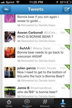 I'm convinced idiots were watching the Grammy's. Bonnie bear= Bon Iver. LOL