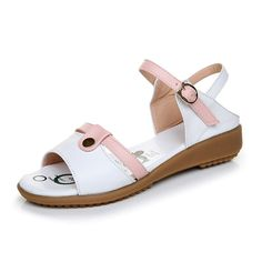 Ladies flat sandals/Soft beef tendon shoes women sandals/Casual plus size sandals *** Be sure to check out this awesome product.