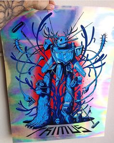 Instagram post by @stormcloudz;  Super rare foil silkscreen poster by Jeff Soto Art ///  1 of only 5 prints from a sold out Primus gig in Ventura, California (2013) /// @jeffsotoart @inhousesilkscreen @primusville @zzzoltron