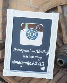 The perfect instagram sign for a connected wedding. Hashtag that big day! For more great ideas to involve guests, click the link.