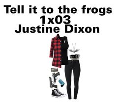 """1x03 ""tell it to the frogs"" Justine Dixon ""The Walking Dead"""" by j-j-fandoms ❤ liked on Polyvore featuring Acne Studios, Converse and Journee Collection"