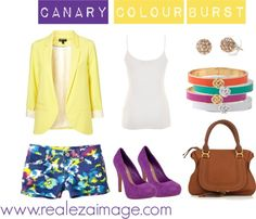Canary Colour Burst, created by realezaimage on Polyvore