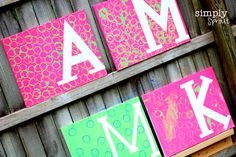 Kid painted canvases more craft ideas at www.simplysprouteducate.com