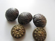 Vintage Buttons  Collector pressed metal by pillowtalkswf on Etsy, $8.25