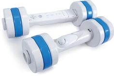 Wii Dumbbells With Adjustable Weights Overview    Add even more resistance to your Wii Fit workouts with this adjustable weight dumbbell set for Wii Fit. These dumbbells are specifically designed to enclose the Wii Remote (with or without the Wii MotionPlus adapter) and Nunchuk in a dumbbell casing. These plastic dumbbells are adjustable with different sets of weights, just unscrew the outer rings and add or remove the desired amount of weight.
