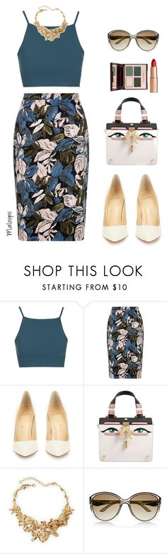 """~Summer days drifting away to oh oh the summer nights~"" by maloops ❤ liked on Polyvore featuring Topshop, Christian Louboutin, Giancarlo Petriglia, Oscar de la Renta, Valentino, Charlotte Tilbury, Summer, DateNight and summerdatenight"