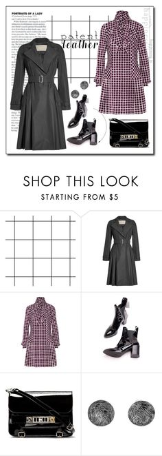 """""""City slickers: patent leather"""" by faten-m-h ❤ liked on Polyvore featuring MaxMara, Oscar de la Renta, Proenza Schouler, NOVICA and patentleather"""