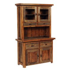 We proudly offer this Wyoming Reclaimed Wood Buffet & Hutch and other fine rustic American-made reclaimed wood furniture and décor. Browse our rustic furniture catalogs now. Free Delivery to 48 states.