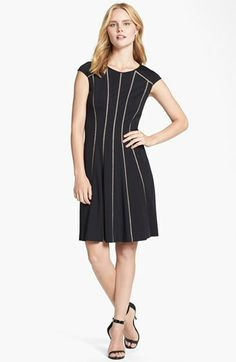 Adrianna Papell Ponte Knit Fit & Flare Dress available at #Nordstrom