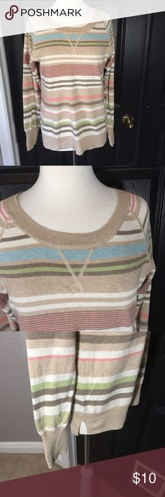 """Sonoma Striped Sweater Size L 🎀 Great pre-loved condition. 60% cotton & 40% polyester Bust - 39"""" Length - 26"""" Sonoma Sweaters Crew & Scoop Necks"""