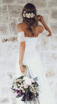 Wedding Dresses, wedding gown article number 1250769280 A beautiful collection on images to inspire a sensational gown. Sweet rustic wedding dresses lace pinned on this creative date 20190109 , Ivory Lace Wedding Dress, Rustic Wedding Dresses, Wedding Gowns, Bridal Dresses, Off Shoulder Wedding Dress Bohemian, Bridal Gown, Boho Chic Wedding Dress, Boho Dress, Lace Dress