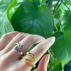 Best Friend Rings, Casual Rings, Hand Ring, Handmade Rings, Couple Rings, Rings Cool, Love Ring, Statement Rings, Silver Color